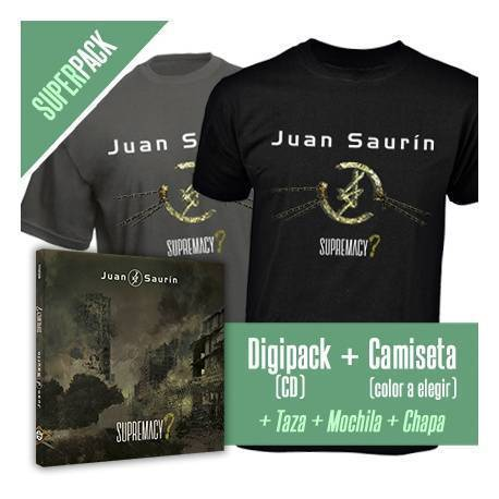 "JUAN SAURÍN - SUPER PACK [CD ""Supremacy"" + CAMISETA + Taza + Mochila + Chapa]"