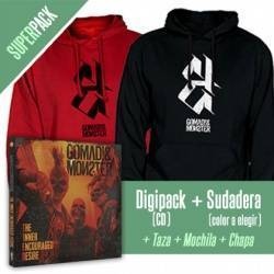 "GOMAD! & MONSTER - SUPERPACK [CD ""The Inner Encouraged Desire"" + SUDADERA + Taza + Mochila + Chapa]"