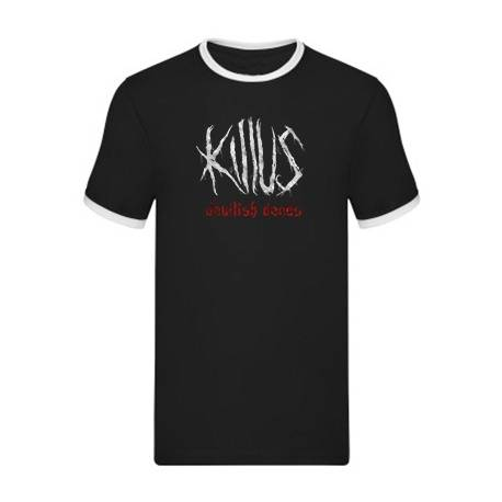 "KILLUS - Camiseta con ribete ""Logo Devilish Deeds"""