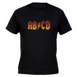 "Camiseta ""AB CD "" negra"