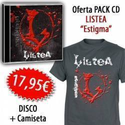 "LISTEA - PACK [CD ""Estigma"" + CAMISETA]"