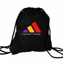 """MOCHILA NEGRA - """"Impossible is Nothing"""""""
