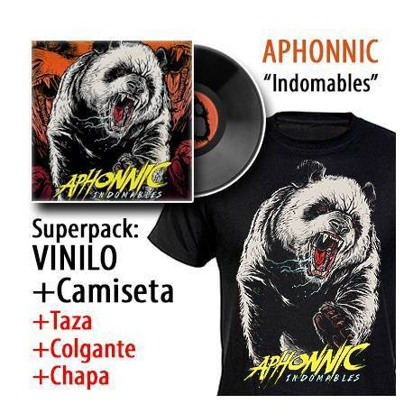 "APHONNIC - SUPERPACK [VINILO ""Indomables"" + CAMISETA + Taza + Colgante + Chapa]"