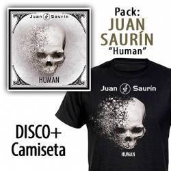 "JUAN SAURÍN - PACK [CD ""Human"" + CAMISETA]"
