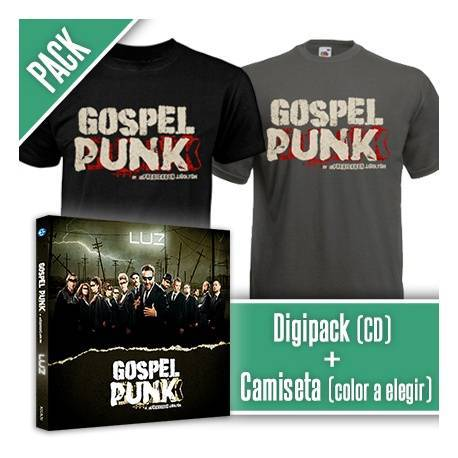 "GOSPEL PUNK - PACK [Digipack ""Luz"" + CAMISETA]"