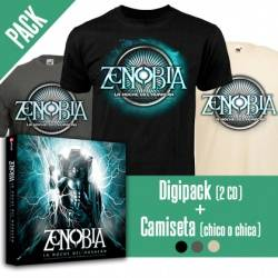 "ZENOBIA - PACK [Digipack doble ""La Noche del Huracán (Live in Madrid)"" + CAMISETA]"
