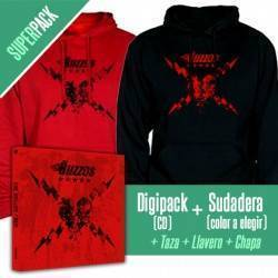 "THE BUZZOS - SUPERPACK [CD ""Red"" + SUDADERA + Taza + Llavero + Chapa]"