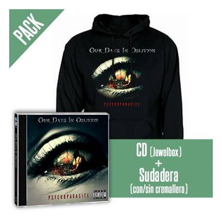 "O.D.I.O (Our Days In Oblivion) - PACK [CD ""Psychoparasite"" + SUDADERA]"