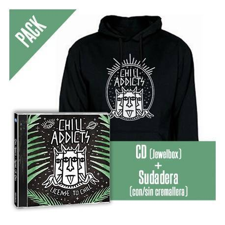 """CHILL ADDICTS - PACK [CD """"License to Chill"""" + SUDADERA]"""