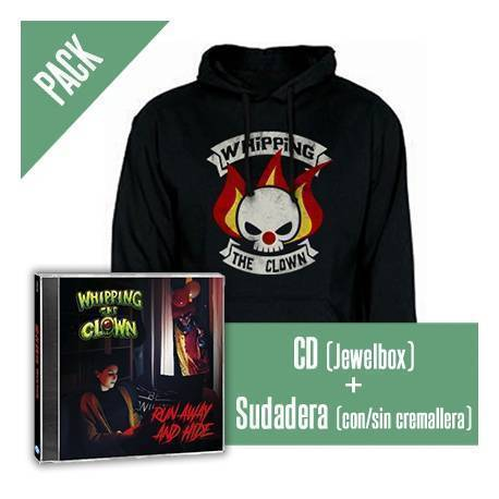"WHIPPING THE CLOWN - PACK [CD ""Run Away And Hide"" + SUDADERA]"
